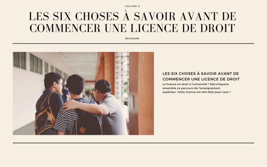Les six choses à savoir avant de commencer une licence de droit